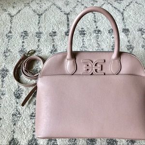 Sam Edelman Bag Mauve Pink Satchel Removable Strap